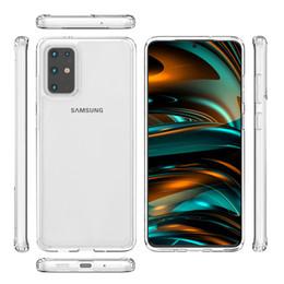 meizu mx5 cover Desconto Para iphone 11 pro max caso de telefone Transparent TPU para Samsung Galaxy S20 Além disso S20 Ultra s20 + A71 A51 A20S acrílico transparente C