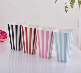 scatola pieghevole di quadrato del tessuto Sconti HOT Wave Circles Pattern Pieghevole Candy Scatole di carta per popcorn Festa di compleanno Caramelle per matrimoni / Sanck Sacchetti di carta Regalo di Chritmas 2000PCS