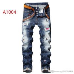 Pulir los pantalones vaqueros online-2019 nueva marca de jeans de moda de los hombres europeos y americanos ocasionales, lavado de alto grado, la molienda pura mano, la optimización de la calidad