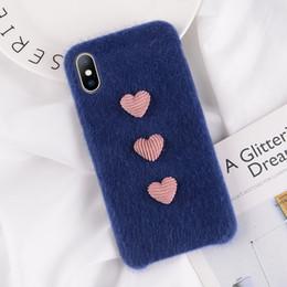 Coque téléphone Mytoto Furry pour iPhone X XS XR XS MAX Housse PU souple Hiver Chaud Peluche 3D Amour Coeur Coques Pour iPhone 7 8 6 6 S Plus ? partir de fabricateur