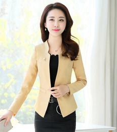 chaquetas de un solo botón para mujer Rebajas J58024 Nuevo diseño de alta calidad de un solo botón con muesca Office Lady Blazer Jacket