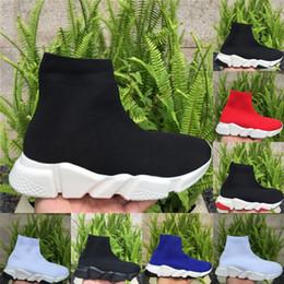 Botas curtas de malha meia sapatos homens velocidade trainer mulheres sapatilhas Andar Sapato Casual Todos os Pretos altos Chaussures Sapatos de grife de Moda de Luxo de