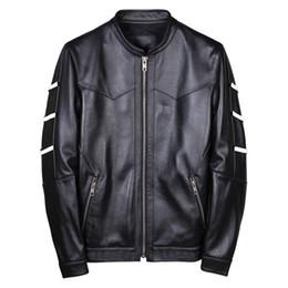 Gerçek Deri Ceket Erkek İnek Deri Ceket Kore Motosiklet İnce Bombacı Erkek Jaqueta De Couro 19001 YY998 cheap cow leather jackets nereden inek deri ceketler tedarikçiler
