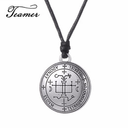 archangel pendants Promo Codes - ashion Jewelry Necklace Teamer New Religious Rope Chain Angel Men Pendant Necklace Archangel Michael Raphael Uriel Gabrie Talisman Wicca ...