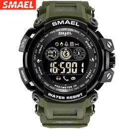 stock smart watch Coupons - SMAEL Men Super Smart Watch Waterproof Bluetooth Army Sport Wrist watch For Android IOS Phone clock saat xfcs In stock