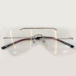 Occhiali da sole vintage senza montatura occhiali da vista Telaio 2019 Nuovi occhiali da vista per occhiali da vista per le donne Lenti trasparenti da