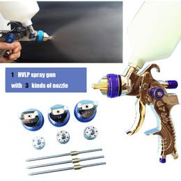 Pistolas de pulverização profissionais on-line-G2008 HVLP pistola de pulverização 1.4mm 1.7mm 2.0mm bocal de aço pistola de pintura profissional airbrush para pintura de carros