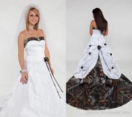 2019 kurze farbe informelle brautkleider 2018 Camo Brautkleider mit Schatz Handgemachte Blume Satin Zip Robe de mariée Brautkleider