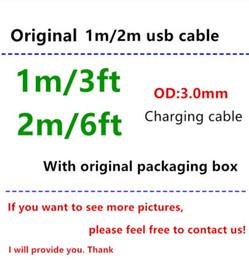2019 sony mobile audio Alta calidad 1m 3ft 2m 6ft cable USB Cargador de sincronización de datos USB Con caja de embalaje original