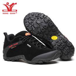 Promotion Chaussures De Marche En Cuir Imperméable Homme