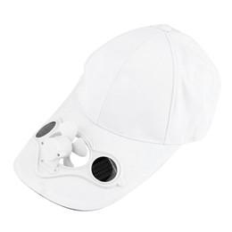2019 poupança de energia do ventilador Tampão novo do chapéu do verão com poder de Sun solar Fã fresca - economia de energia para o esporte do ciclismo poupança de energia do ventilador barato
