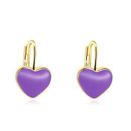 bijoux fantaisie sans nickel Promotion Mode tendance boucles d'oreilles romantique boucles d'oreilles en forme de coeur simples bijoux de mode sans nickel sans plomb en gros