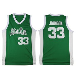 NCAA Michigan State Spartans 33 Earvin Johnson magico College Basketball Wears 33 Larry Bird Liceo Pallacanestro Jersey da