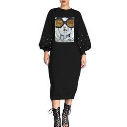2019 dimensioni dei perni Vestiti delle donne Pop-up bolla popolare di colore solido di grandi dimensioni Tempo libero e comodo vestito dal progettista di stile Manicotto Vestito brillante dal foglio sconti dimensioni dei perni