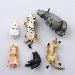 2020 animais magnéticos para refrigerador Frigorífico bonito Sticker 3D Ornamento dos desenhos animados Animais imã de Animais Shaped Frigorífico Etiqueta Decoração Magnetic animais magnéticos para refrigerador barato