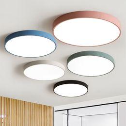 Panneau de surface led en Ligne-LED Plafonnier Moderne Panneau Lampe Luminaire Salon Salle De Bains Cuisine Surface Mount Flush Télécommande