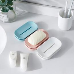 2019 doppio piatto di sapone Portasapone Pandora unico per il bagno, portasapone colorato, doppio portasapone per lo scarico, un buon aiuto per la tua famiglia doppio piatto di sapone economici
