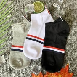 Подарочная коробка упаковка 6 пар / коробка ТБ стиль мужчины и женщины Полосатые носки летом Хлопчатобумажные носки Тапочки Свободный Размер Высокое Качество cheap quality gift boxes от Поставщики качественные подарочные коробки