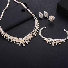 diseños de oro rubí Rebajas jankelly Hotsale Nigeria 4 unids Conjuntos de joyas nupciales Nueva moda Dubai Conjunto completo de joyas para mujeres Accesorios de banquete de boda Diseño