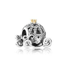 Machen perlen armband online-Klassische Schmuck Zubehör Perlen Charms Original Box für Pandora 925 Sterling Silber Kürbis Auto Charms Armband machen