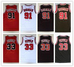 Mens Mesh Pas Cher Respirant Sports # 33 Scottie Pippen Jersey 91 # Dennis Rodman broderie Suture Chemises Basket Jerseys Taille S-XXL ? partir de fabricateur