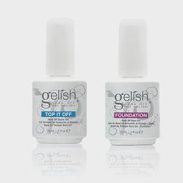 Top qualité Harmonie Gelish Soak Off Nail Gel Nail Art Gel Polish Laque Led / uv Base Coat Fondation Top Coat sur la vente ? partir de fabricateur