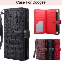 carteira de couro do doogee Desconto K'try 3D Bump Jacaré Crocodilo Pele Pu Couro Caso de Telefone Para Doogee BL5000 BL7000 Mix2 X55