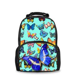 Sacchetti di scuola delle ragazze di modo di Noisydesigns Sveglio 3D Schoolbag di stampa della farfalla per gli studenti Adolescente Travelbag della scuola secondaria cheap middle school bags for girls da borse della scuola media per le ragazze fornitori