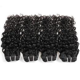 2019 vrais cheveux indiens brésiliens Brésilien Vague D'eau De Réalistes de Cheveux Humains 8-28 pouces vierges indiens vierges 3pcs cheveux faisceaux extensions de cheveux pas cher promotion vrais cheveux indiens brésiliens