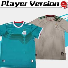 dois jogadores Desconto 2019 Two Stars jogador versão Argélia casa branco longe verde Camisas De Futebol 19/20 Argélia camisas de futebol do clube de futebol Uniformes de Futebol Adulto