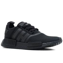 528b65992ddbb r1 black purple Coupons - NMD R1 Primeknit Runner Top Quality Running Shoes  Classic Triple Black