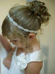 vestidos de casamento dos miúdos china Desconto Strass meninas Head Pieces Júnior Da Dama De Honra Acessórios de Noiva Headband Hairwear Cristal flor headban Acessórios Do Casamento Do Cabelo