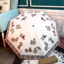 2019 guarda-chuvas compactos grossistas Guarda-chuvas Clássicos Marca Parasol B Lattices Guarda-chuva Dos Homens E Mulheres Dobrável UV Sunshade Ensolarado E Chuvoso 55fp F1