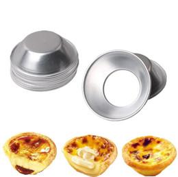 Ovos de arroz on-line-Tortas de ovo Mould 7 cm Pasteis De Nata Forno Asse Rodada Bolo de Lata De Cupcake De Arroz Cozimento DIY Ferramenta OOA6047