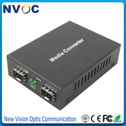 sm sfp módulo Rebajas 1.25G SFP MM a 1.25Gbps SM Modo mutil a Conversor de fibra monomodo, Sin módulo SFP, 1000M SM MM Optic Converter
