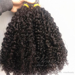 extensões ligadas do cabelo humano Desconto Peruana Mongulian I Tip extensões do cabelo Afro Kinky Curly 100 fios Pré Bonded Vara I ponta queratina Fusão Remy Virgem extensão do cabelo humano