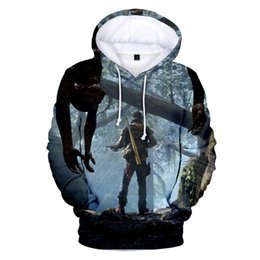 adventure games Promo Codes - Adventure Game 3D Print Sweatshirts Days Gone Spring Autumn Hoodies Loose Sleeve Clothing Crew Neck Casual Apparel