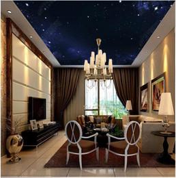 Gros-intérieur au plafond 3D papier peint peintures murales personnalisées papier peint Beau ciel étoilé HD grande image fantaisie zénith peinture fond ? partir de fabricateur