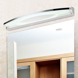 espejos de baño largos Rebajas Luz LED de espejo largo 39CM ~ 100CM AC90-260V Moderno Acrílico cosmético Lámpara de pared Iluminación del baño Impermeable Envío Gratis - I97