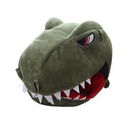 Anime halloween vestire in su online-Cosplay Toys Dinosaur Hood Hat Foto Puntelli Cappello Peluche Giocattoli Natale Halloween Festa di compleanno Dress Up Anime Manga