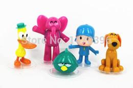 Atacado-5pcs / set Cartoon Pocoyo Zinkia Brinquedos Bonecos Figuras de Ação PVC Criança Brinquedos cheap pocoyo toys wholesale de Fornecedores de brinquedos pocoyo a atacado