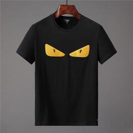 espacio gato t shirts Rebajas 2019 diseñador del verano camisetas para los hombres Bolsa de moda Errores ojos de impresión camiseta para hombre ropa de Lujo Italia camiseta de manga corta Tops