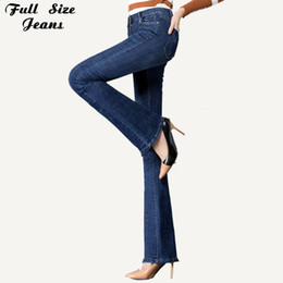 fc82991033a Spring Plus Size Lengthen Women Boot-Cut Jeans 4Xl 5Xl 7Xl Extra Long  Skinny Denim Pants For Tall Girl Lengthened Trousers pants tall women for  sale