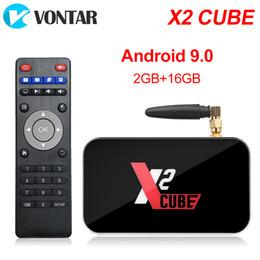Nuevo X2 Cube Android 9.0 TV Box S905X2 DDR4 2GB16GB 2.4G / 5G Wifi BT 4.2 Smart TV Box desde fabricantes