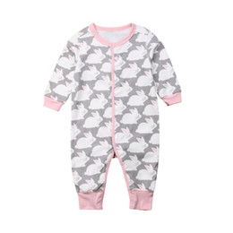d9b5443f Easter Newborn Infant Baby Girls Romper Spring Summer Autumn New 2019 Cute  Rabbit Long Sleeve Playsuit Outfits Clothes girls easter clothing on sale