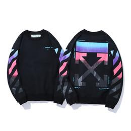 2019 nuevos modelos de pareja caliente otoño e invierno letras de gradiente cordón impresión moda casual tendencia simple personalidad suéter pareja desde fabricantes