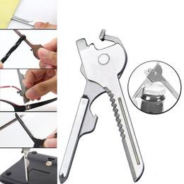 cuchillo de anillo táctico Rebajas Multipurpose Multi Utili Key shape ring Cuchillo de bolsillo Cuchillo abridor Juego de herramientas Sobrevivir edc Mini utilidad táctica Destornillador Destornillador