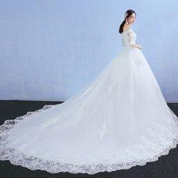 Deutschland Neue Brautkleider Braut und Herbst Braut und Prinzessin Princess einfach dünnes Studio dünnes Halsausschnitt WEDDING DRESS supplier korean simple wedding dress Versorgung
