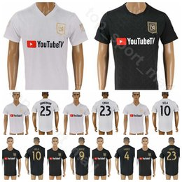 Maillot ramirez online-18 19 Temporada FC Los Angeles Football Club 10 VELA Jersey LAFC 9 ROSSI 14 KAYE 21 RAMIREZ 7 BENDICIÓN Uniformes Kits de uniforme