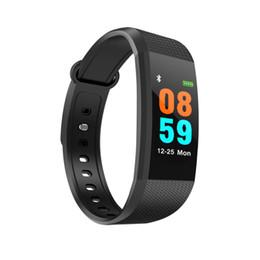 Precios de rastreadores de fitness online-Precio de fábrica i9 0.96 pantalla grande a color pulsera inteligente smartband rastreador de fitness regalo elegante impermeable
